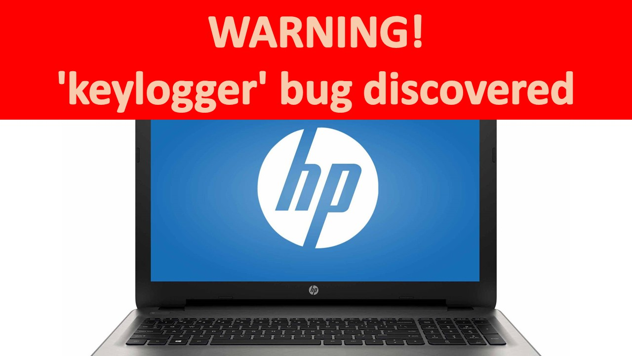 HP laptop keylogger bug discovered