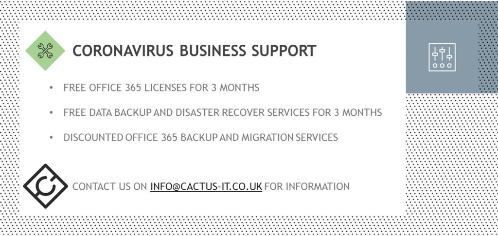 Cactus IT Coronovirus Business Support